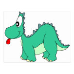 Dinosaurio del dibujo animado tarjeta postal