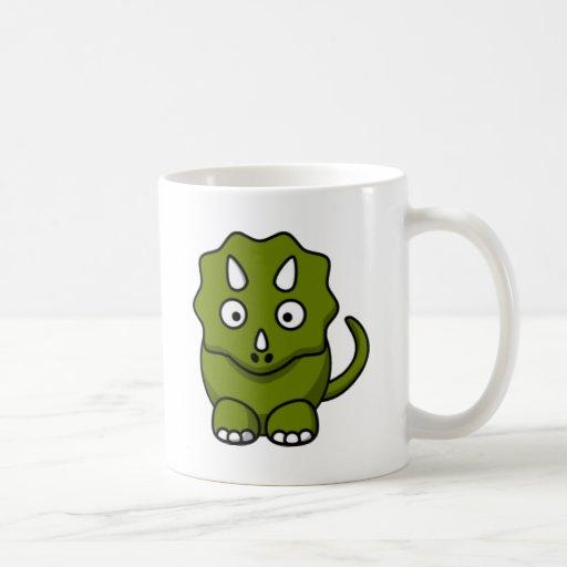 Dinosaurio del dibujo animado tazas