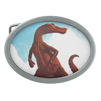 Dinosaurio del Hadrosaurus Hebilla De Cinturon Oval