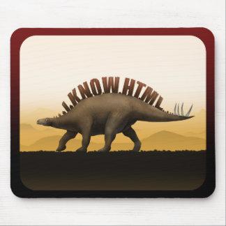 Dinosaurio del HTML Alfombrillas De Ratones