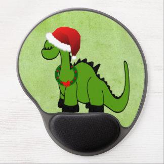 Dinosaurio del navidad alfombrillas de raton con gel