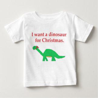 Dinosaurio del navidad poleras