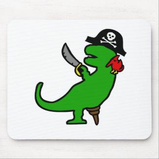 Dinosaurio del pirata mouse pads