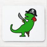 Dinosaurio del pirata tapetes de ratón