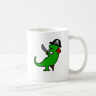 Dinosaurio del pirata taza de café
