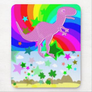 Dinosaurio del pixel de T-Rex Tapetes De Ratones