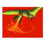 dinosaurio del Pterodactyl Llameante-que lanza - S Postales