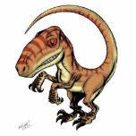 Dinosaurio del rapaz del Velociraptor de Marco D C Esculturas Fotográficas