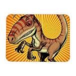 Dinosaurio del rapaz del Velociraptor de Marco D C Imán Flexible