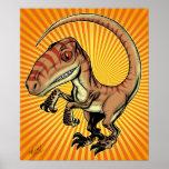 Dinosaurio del rapaz del Velociraptor de Marco D C Impresiones