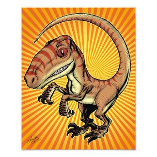 Dinosaurio del rapaz del Velociraptor de Marco D C Impresiones Fotograficas