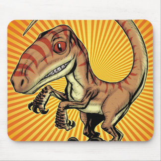 Dinosaurio del rapaz del Velociraptor de Marco D C Alfombrilla De Raton