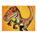 Dinosaurio del rapaz del Velociraptor de Marco D C Tarjeta Postal