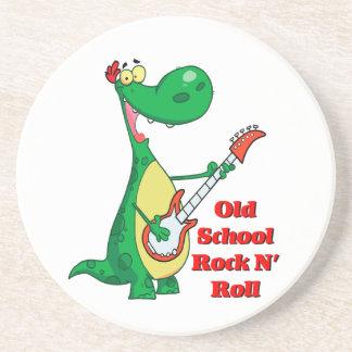 dinosaurio del rollo de la roca n de la escuela posavasos diseño