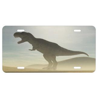 Dinosaurio del rugido placa de matrícula