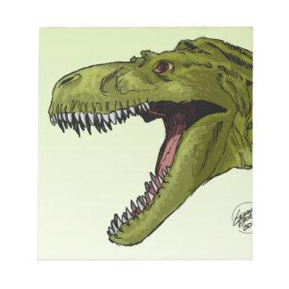 Dinosaurio del rugido T-Rex de Geraldo Borges Blocs De Notas