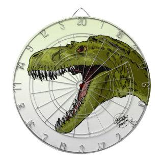 Dinosaurio del rugido T-Rex de Geraldo Borges Tablero Dardos