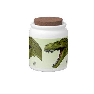 Dinosaurio del rugido T-Rex de Geraldo Borges Platos Para Caramelos