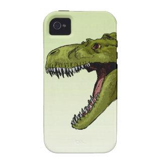Dinosaurio del rugido T-Rex de Geraldo Borges Vibe iPhone 4 Fundas