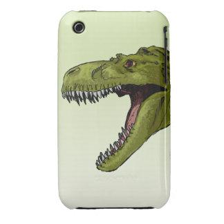 Dinosaurio del rugido T-Rex de Geraldo Borges iPhone 3 Carcasas