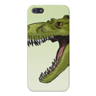Dinosaurio del rugido T-Rex de Geraldo Borges iPhone 5 Carcasas