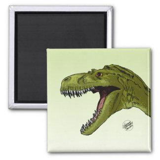 Dinosaurio del rugido T-Rex de Geraldo Borges Imán Para Frigorifico