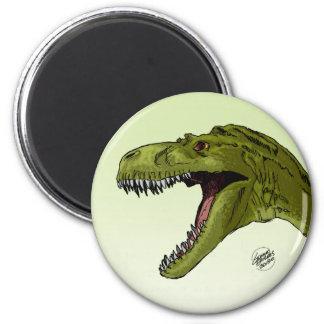 Dinosaurio del rugido T-Rex de Geraldo Borges Imán De Frigorifico