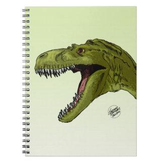 Dinosaurio del rugido T-Rex de Geraldo Borges Libreta Espiral