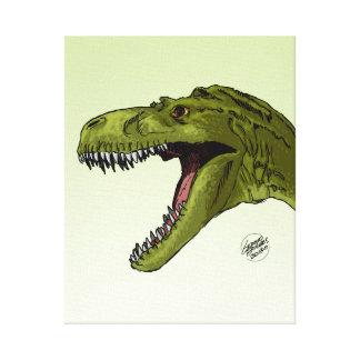 Dinosaurio del rugido T-Rex de Geraldo Borges Impresion De Lienzo