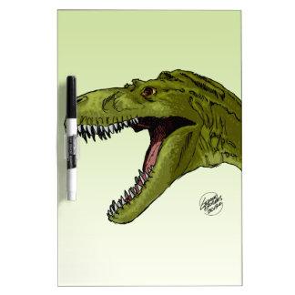 Dinosaurio del rugido T-Rex de Geraldo Borges Tableros Blancos