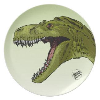 Dinosaurio del rugido T-Rex de Geraldo Borges Plato