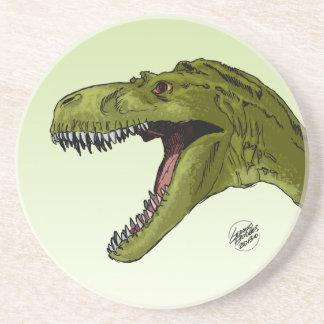 Dinosaurio del rugido T-Rex de Geraldo Borges Posavasos Cerveza
