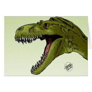 Dinosaurio del rugido T-Rex de Geraldo Borges Felicitaciones