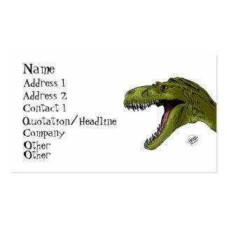Dinosaurio del rugido T-Rex de Geraldo Borges Tarjeta De Visita
