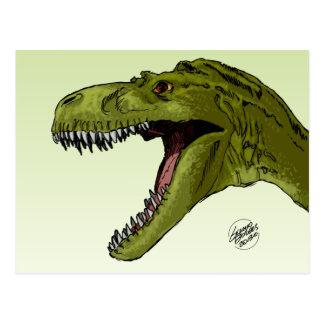 Dinosaurio del rugido T-Rex de Geraldo Borges Postal