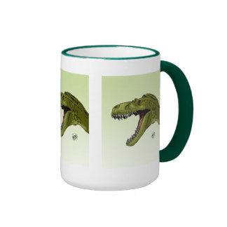 Dinosaurio del rugido T-Rex de Geraldo Borges Taza De Café