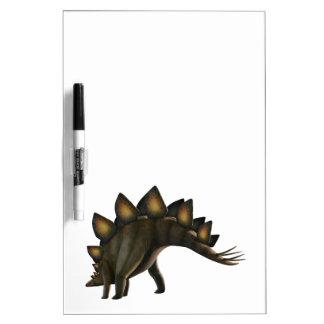 Dinosaurio del Stegosaurus, ilustraciones del Pizarra