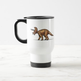 Dinosaurio del Triceratops de la taza del viaje