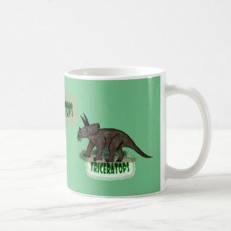 Dinosaurio del Triceratops Taza Clásica
