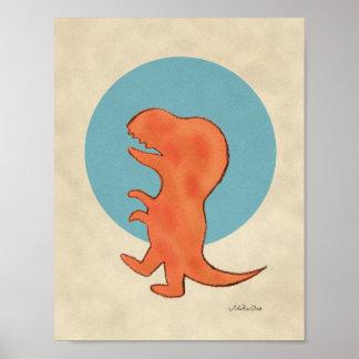 Dinosaurio del Tyrannosaurus de la decoración del Póster