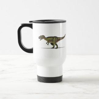 Dinosaurio del Tyrannosaurus de la taza del viaje