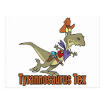 dinosaurio del vaquero del tex del rex del postal