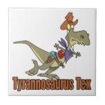 dinosaurio del vaquero del tex del rex del tyranno tejas  cerámicas