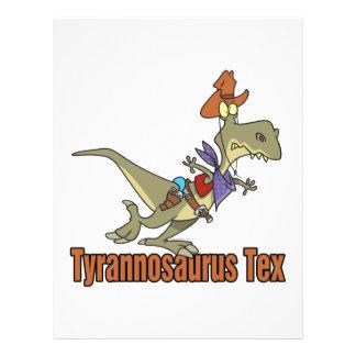 dinosaurio del vaquero del tex del rex del tyranno tarjeton