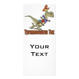 dinosaurio del vaquero del tex del rex del tyranno lonas publicitarias