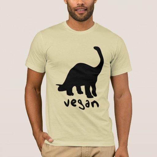 Dinosaurio del vegano playera