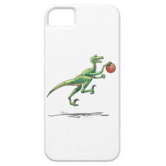 Dinosaurio del Velociraptor con baloncesto iPhone 5 Case-Mate Cobertura