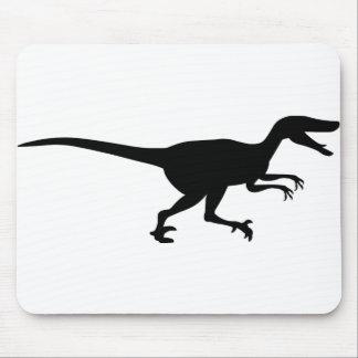 Dinosaurio del Velociraptor Tapetes De Raton