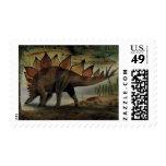 Dinosaurio del vintage, Stegosaurus, cola con los