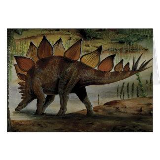 Dinosaurio del vintage, Stegosaurus, cola con los  Tarjetas